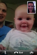 FaceTime with Mama at doula training!