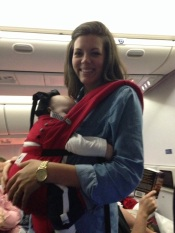 babywearing on the plane
